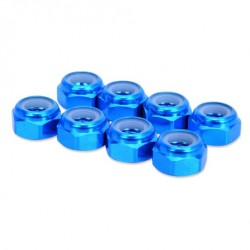 HobbyPro Dadi autobloccanti M4 Alluminio Blu 8 pz (art. HM4BU)