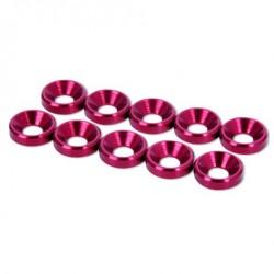 HobbyPro Rondelle coniche svasate M3 Alluminio Rosso (art. HW3R)