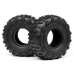 "Hot Bodies Coppia gomme 2.2"" Sedona Bianco Rock Crawler (art HB67918)"