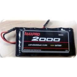 Maxpro Batteria Li-Po ricaricabile per Futaba T6J 6V 2000mAh (art. MAX2046)