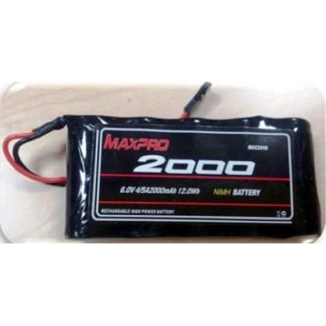 Maxpro Batteria per Futaba T6J 6V 2000mAh (art. MAX2046)