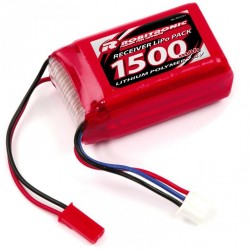 Robitronic Batteria Li-po RX pack AAA Hump 1500mAh 7,4V (art. R05201)