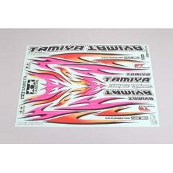 Tamiya Foglio adesivi Tribal Flame Design 30x21cm (art TA/53840)
