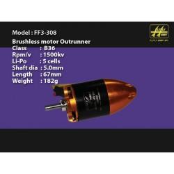 FlyFly Motore B36 OutRunner albero 5mm 1500Kv DF (art. FF3308)