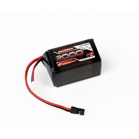 Robitronic Batteria Rx pack Li-Fe 2/3A Hump 2000mAh 6,6V (R05208