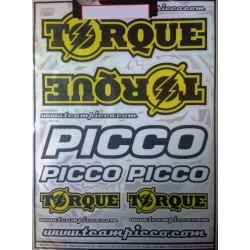 Picco Foglio adesivi Torque per carrozzerie 30x22cm