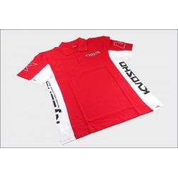 Kyosho Polo Style Rossa e bianca Ricamata Tg. L (art. KY2321-L)