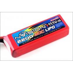 nVision Batteria nVision Li-po 11,1V 2200mAh 30C 3S (art. NVO1810)