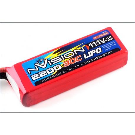 Batteria nVision Li-po 11,1V 2200mAh 30C 3S (art. NVO1810)