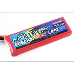 Batteria nVision Li-po 11,1V 2500mAh 30C 3S (art. NVO1811)