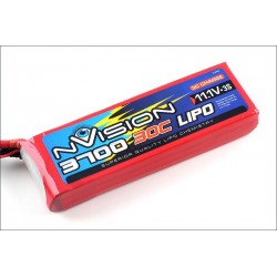 Batteria nVision Li-po 11,1V 3700mAh 30C 3S (art. NVO1813)