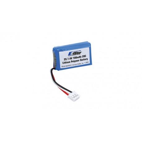 E-flite Batteria Li-po 7,4V 180mAh 2S 20C (art. EFLB1802S20)