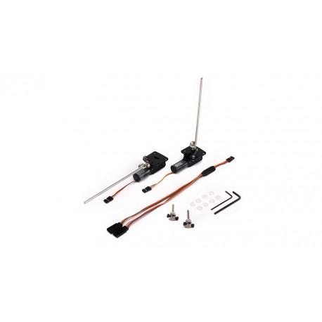 E-Flite Coppia carrelli retrattili 10-15 Rotazione 90° (EFLG120)