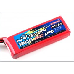 Batteria nVision Li-po 11,1V 1300mAh 30C 3S (art. NVO1808)