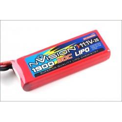 Batteria nVision Li-po 11,1V 1900mAh 30C 3S (art. NVO1809)