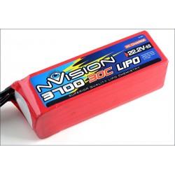 Batteria nVision Li-po 22,2V 3700mAh 30C 3S (art. NVO1817)