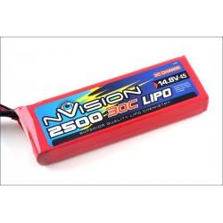 Batteria nVision Li-po 14,8V 2500mAh 30C 4S (art. NVO1814)