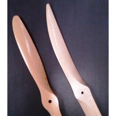 Elica Bipala in legno misura 14x8 Normale