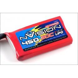 nVision Batteria Li-po 7,4V 450mAh 30C BEC (art. NVO1800)