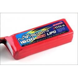 Batteria nVision Li-po 11,1V 1600mAh 30C 3S (art. NVO1819)
