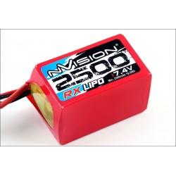 nVision Batteria Li-Po per Ricevente 7,4V 2500mAh Hump connettore JR (art. NVO1504)