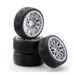 Carson Gomme + cerchi racing LM Silver 4 pz. (art. CA/900530)