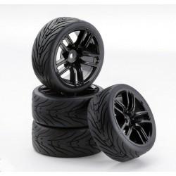 Carson Gomme + cerchi racing GT Black 4 pz. (art. CA/900541)