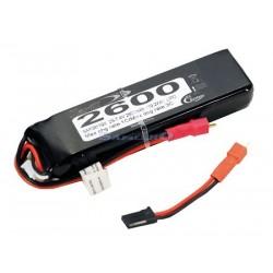Rc System Batteria Lipo 7,4V 2600mAh per Aurora 9X (SAF08119X)