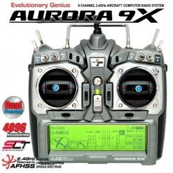 Hitec Radiocomando Aurora 9X solo Tx 2,4GHz Mode 1 (art. 192244)