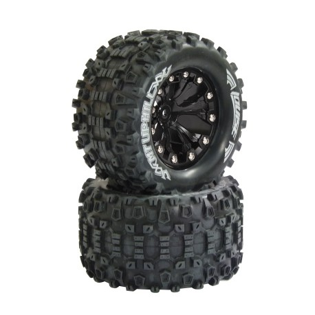 """Coppia gomme 1/10 Monster Truck MT UPHILL 2.8"""" Soft (art 052860)"""
