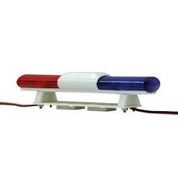 Lampeggiante doppio a led blu/rosso L 105mm H 22mm (art. 505502)