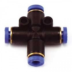 Raccordo a croce innesto rapido per tubo diametro 4 mm (art. RCA/15674/000)