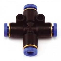 Raccordo a croce innesto rapido per tubo mm.4 (art RCA/15674/000