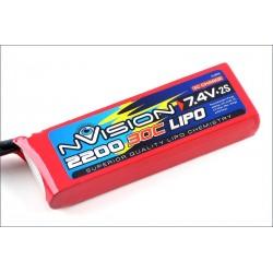 nVision Batteria Li-po 7,4V 2200mAh 30C (art. NVO1803)