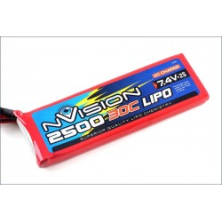Batteria nVision Li-po 7,4V 2500mAh 30C (art. NVO1804)
