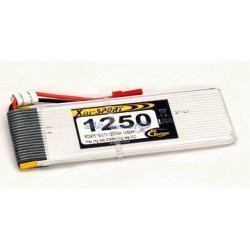 Rc System Batteria Lipo 3,7V 1250mAh (art. RC3475L)