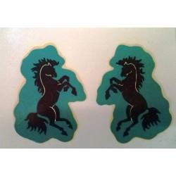 Mantua Model Stemma cavallino nero 2 pezzi (art. 3054)