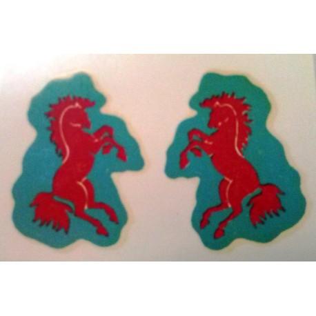 Mantua Model Stemma cavallino rosso 2 pezzi (art. 3053)