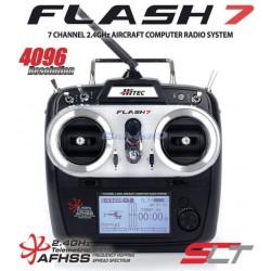 Hitec Radiocomando Flash 7 Tx con 2 RX Minima 6E Mode1 (art. 170261)