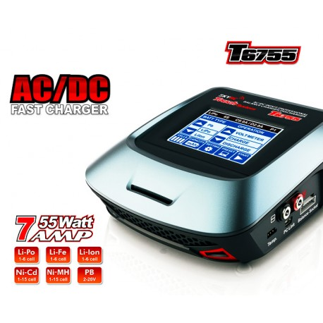 SkyRc Touch Screen Charger T6755 AC/DC 55W (art. SK100064)
