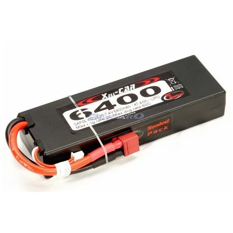 Rc System Batteria Li-po 7,4V 6400mAh 45C DEANS (art. SAF09002)