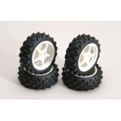 Ripmax Set quattro Cerchi Bianchi + gomme Off-Road (art. RZ-RMX-4SW)