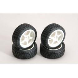 Ripmax Set quattro Cerchi Bianchi + gomme On-Road (art. RZ-RMX-4TW)