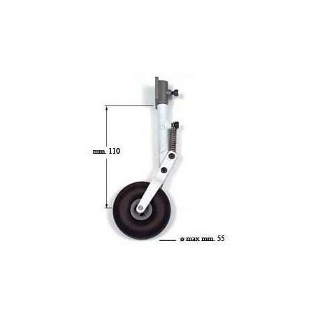Euroretracts Carrello anteriore molleggiato 100mm (art. CAR/15071/000)