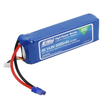 E-flite Batteria Li-Po 4S 14,8V 3200mAh 30C 12AWG (EFLB32004S30)