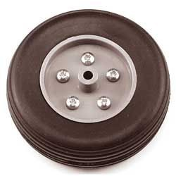Eurokit Coppia ruote in gomma cerchio Nylon 75mm (art. RUO/34370/075)