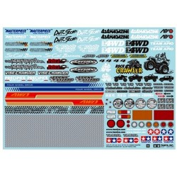 Tamiya RC Sponser Sticker Set - Off Road Car (art. 54630)
