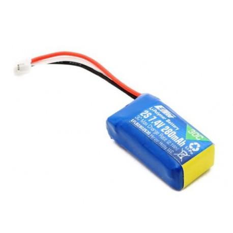 E-flite Batteria Li-po 7,4V 280mAh 2S 30C (art. EFLB2802S30)