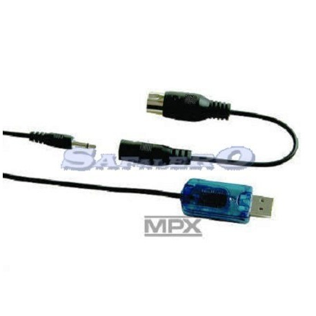 Multiplex Cavo collegamento TX con PC per MPX/Spektrum (MP85153)