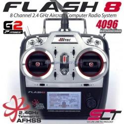 Hitec Radiocomando Flash 8 TX con Rx Optima 9 (art. 176250)